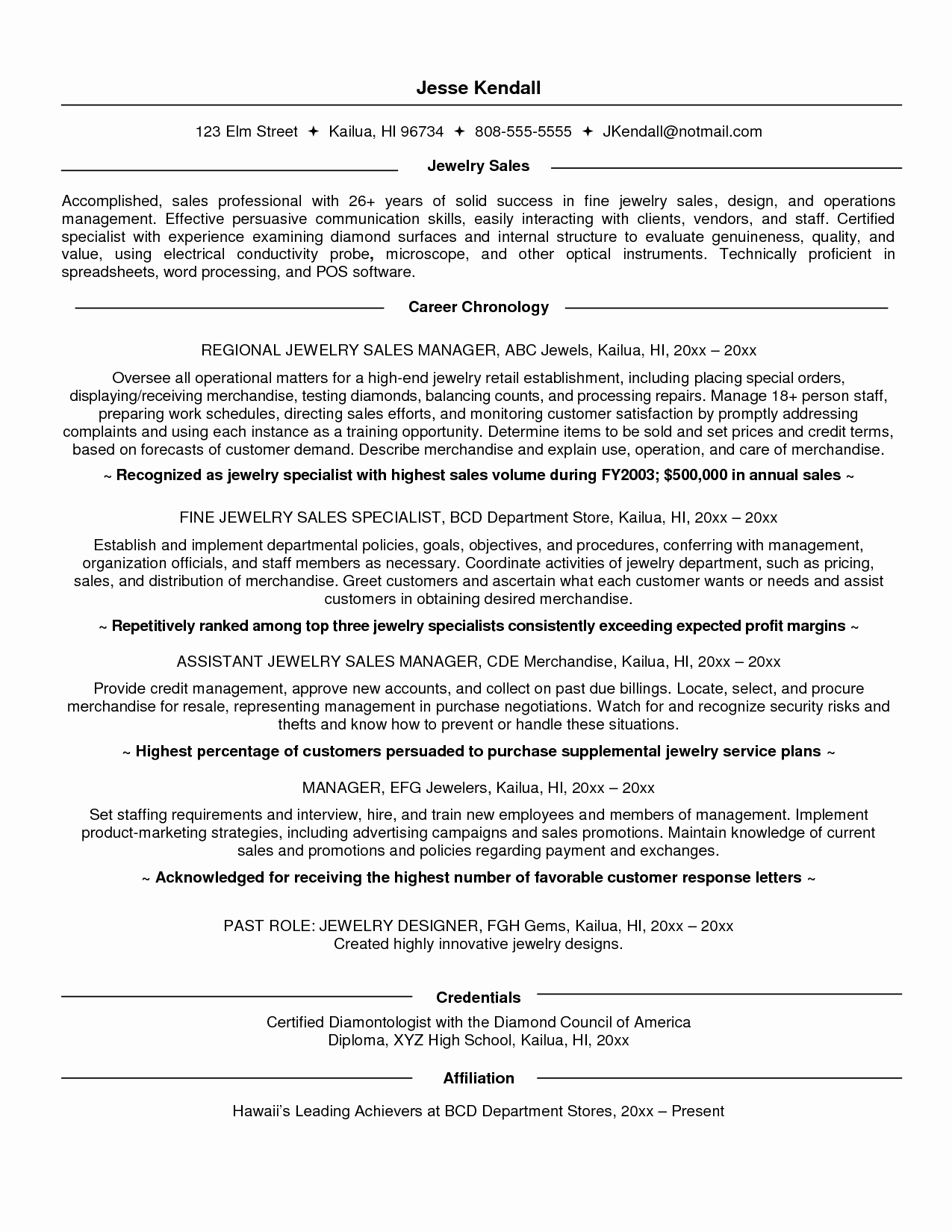 Resume Sales associate Job Description Resume Ideas