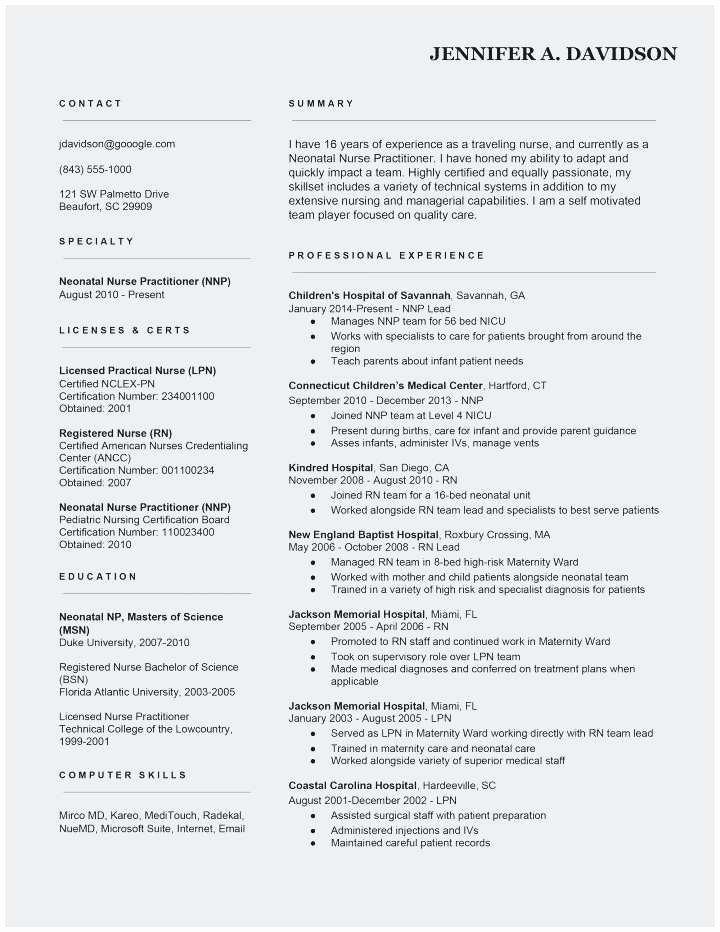 Resume Sample for Nurses Fresh Graduate Best Rn Resume