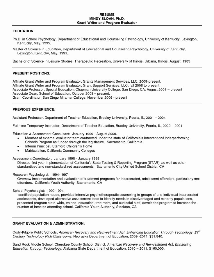 Resume Sample for Psychology Graduate Resume Sample for