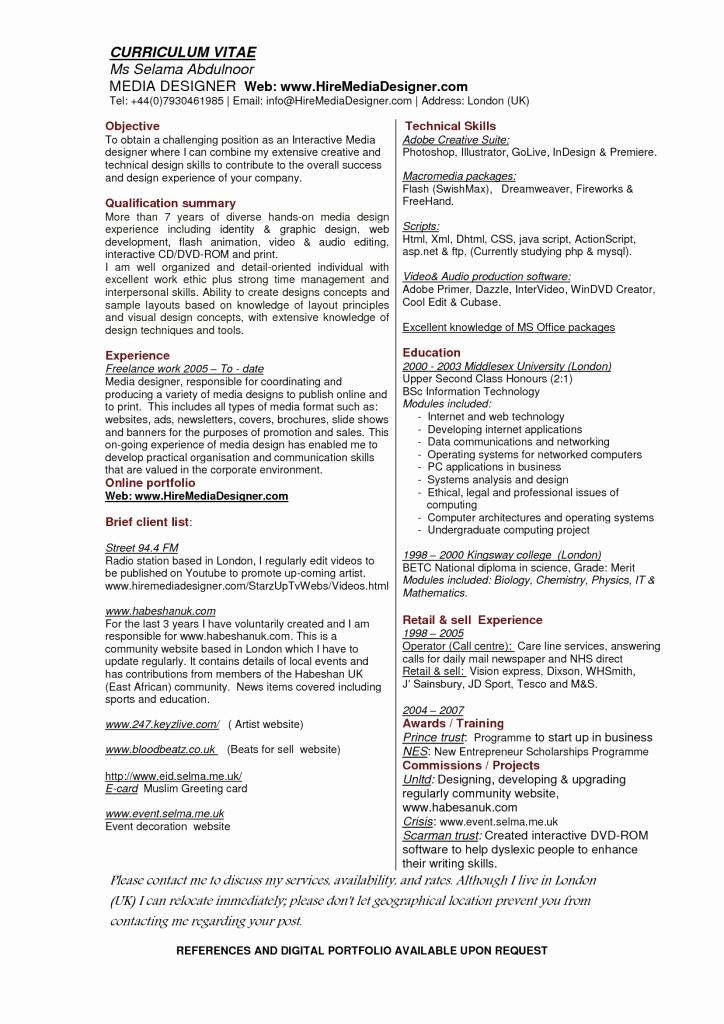 Resume Sample Graphic Design Portfolio Designer Job