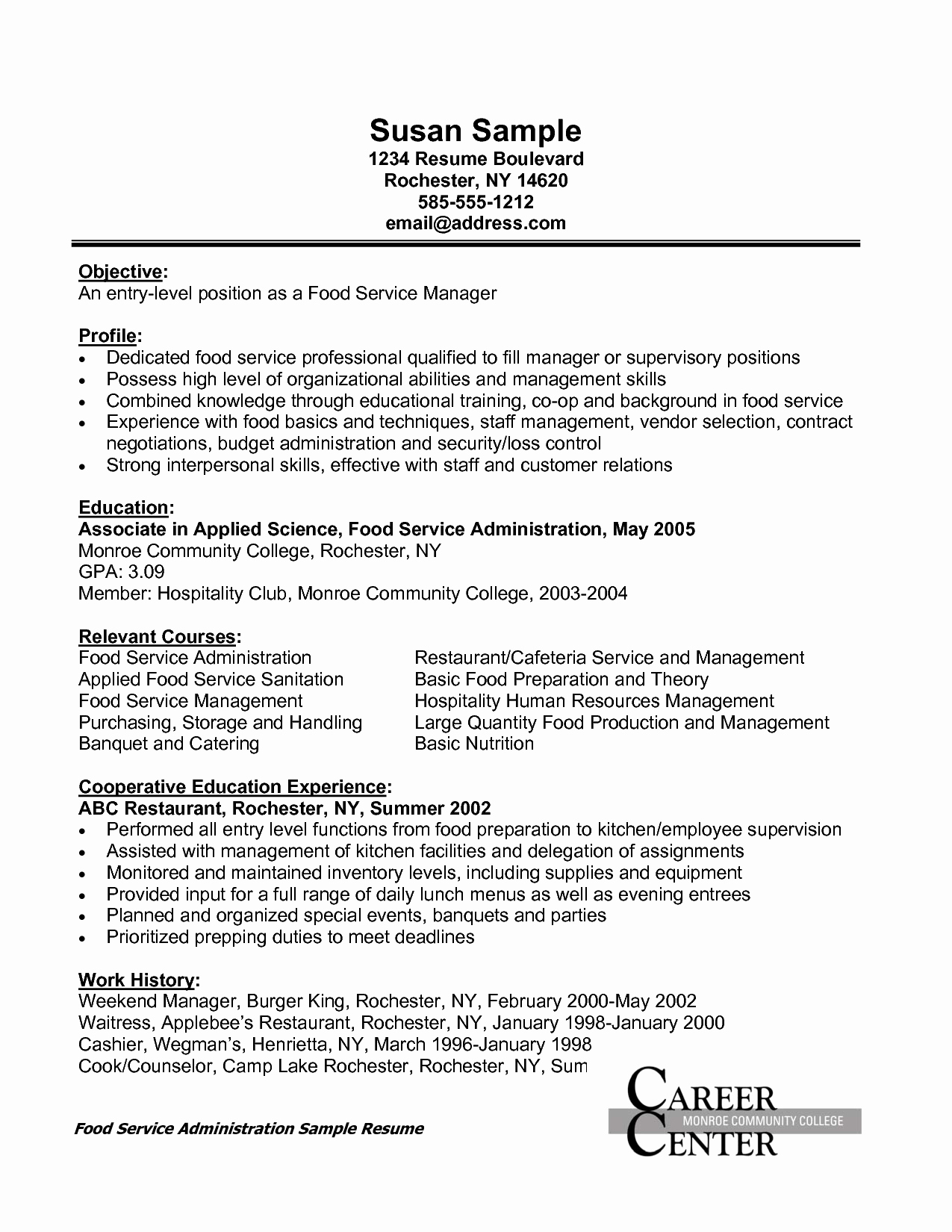 Resume Sample Supervisory Skills Sidemcicek