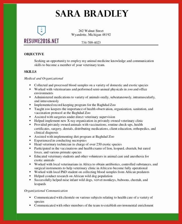 Resume Samples 2016