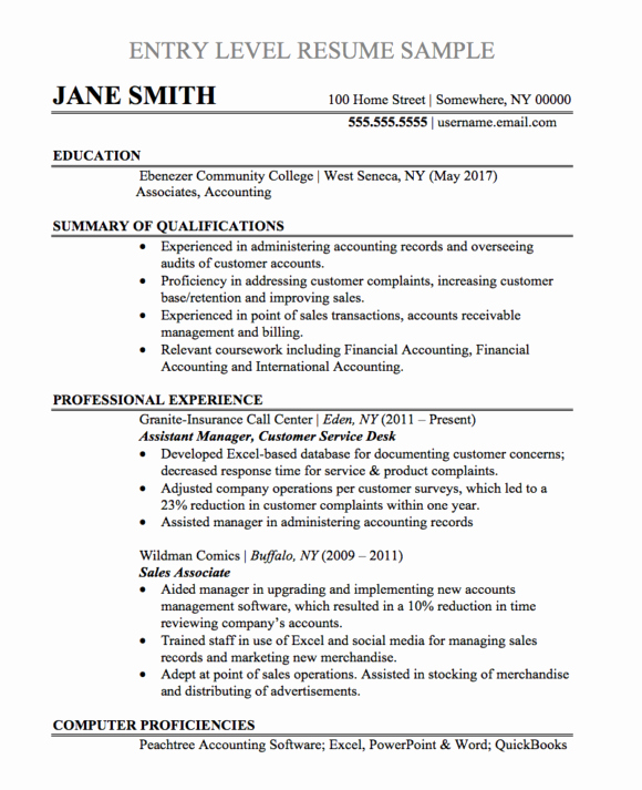Resume Samples and Templates