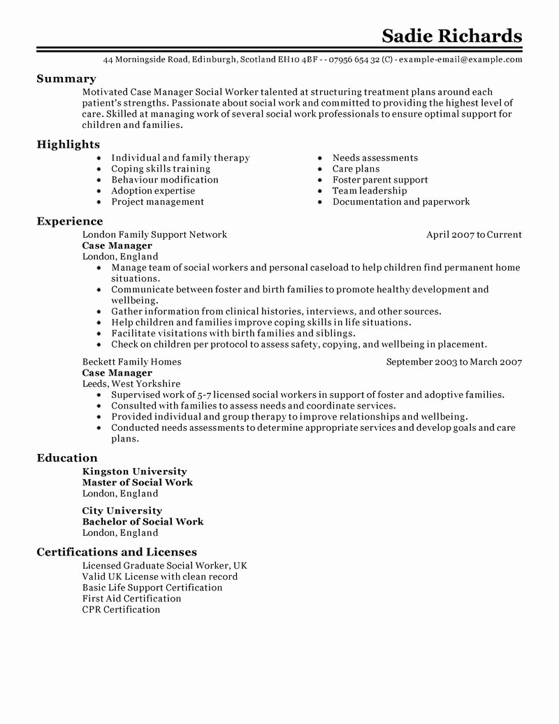 Resume Samples for Rn Case Manager