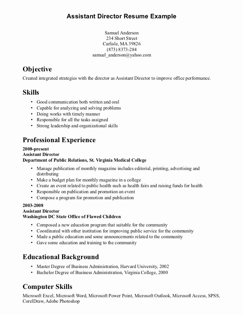 Resume Skill and Abilities Examples Resume Skills