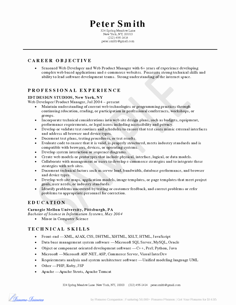Resume Skills for Restaurant Server