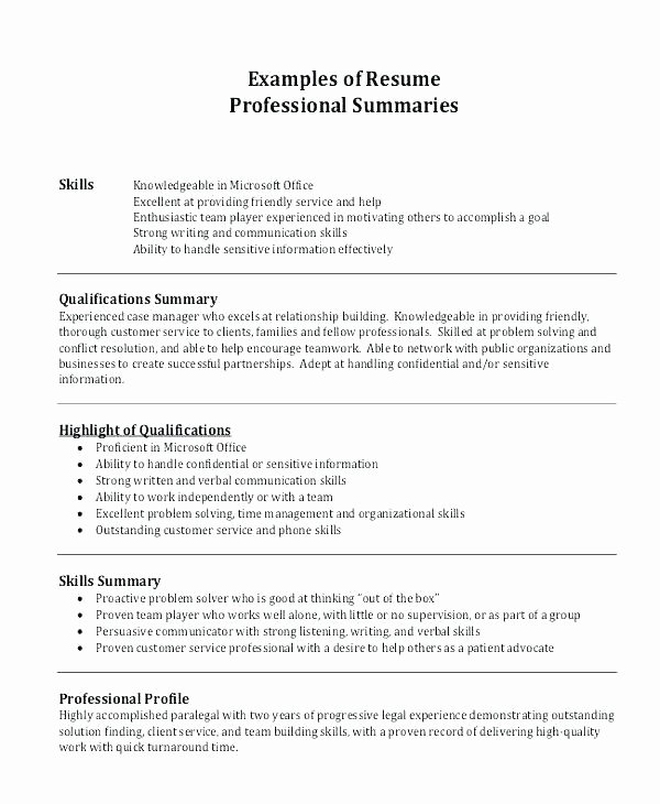 resume summary examples customer service manager