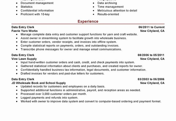 Resume Summary F Resume