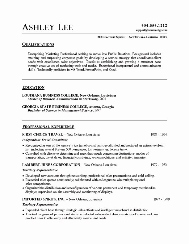 Resume Summary Samples Best Resume Gallery