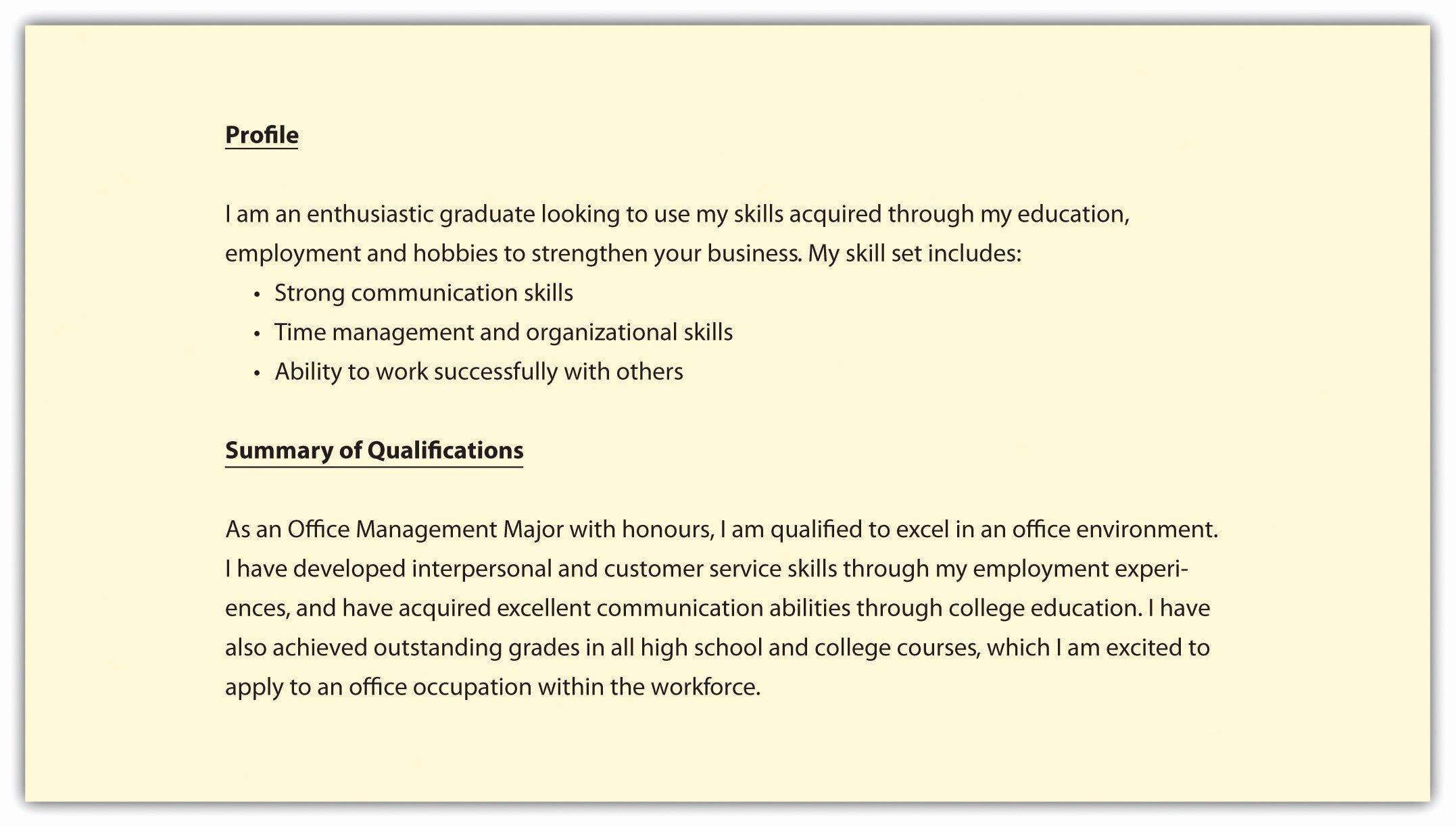 Resume Summary Section Job Sample social Worker