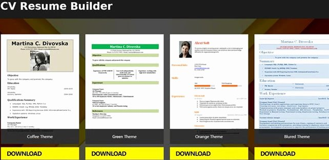 Resume Template App Talktomartyb