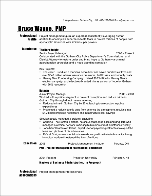 resume template canada 2289