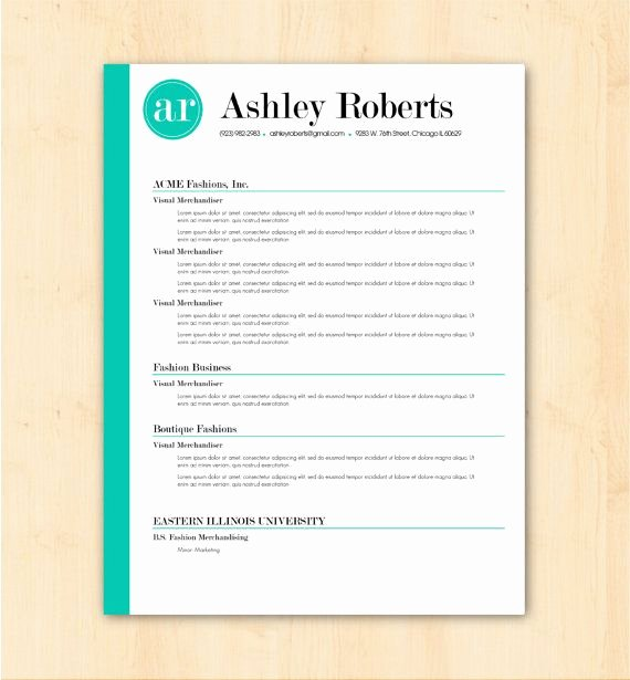 Resume Template Cv Template the ashley Roberts Resume