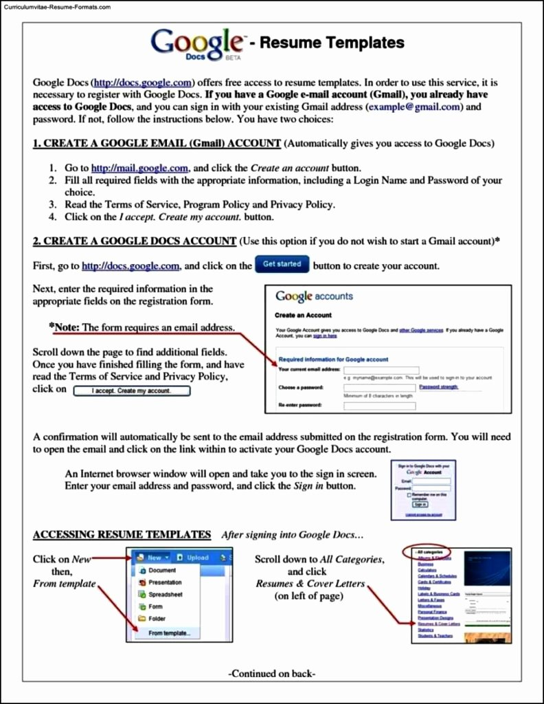 Resume Template for Google Docs Free Samples Examples