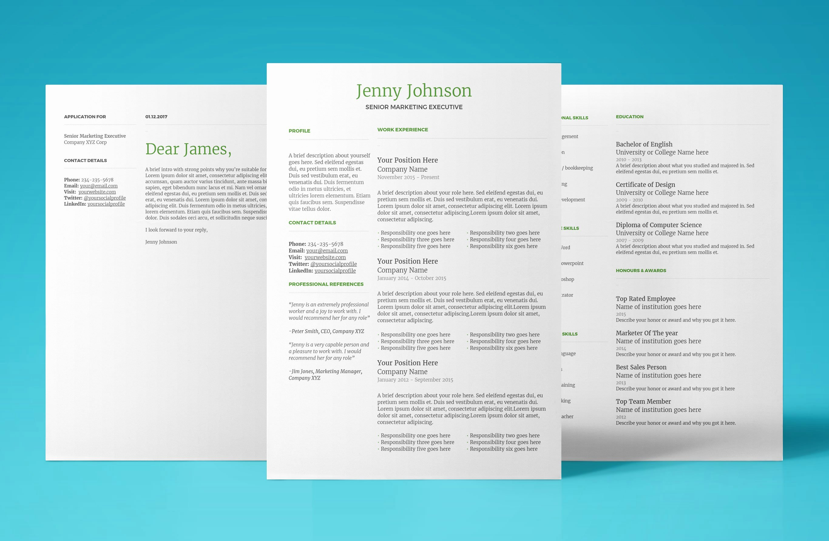 Resume Template for Google Docs Instant Download 2018