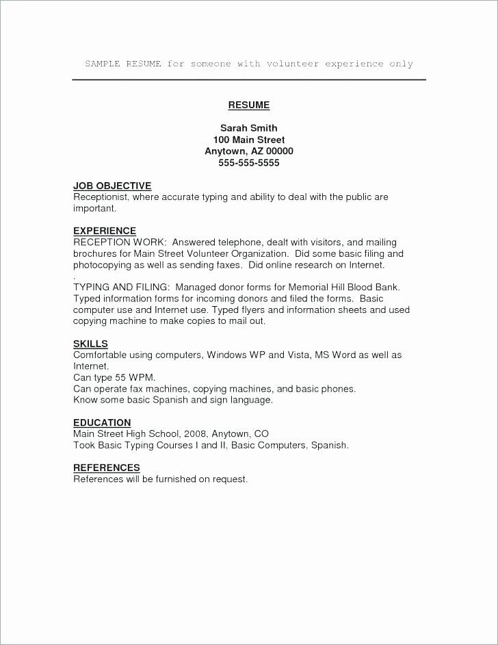 Resume Template for Volunteer Work Cv Template Volunteer