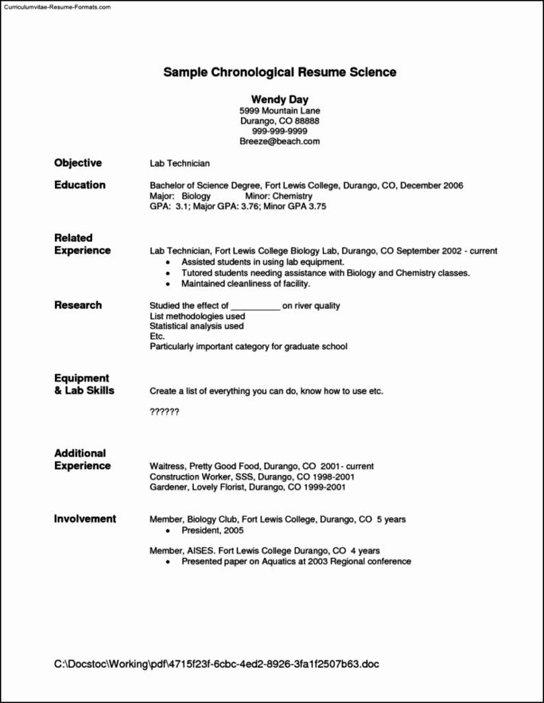resume template for waitress