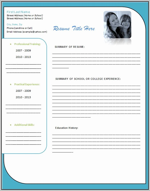 Resume Template Free Download Microsoft Resume Resume