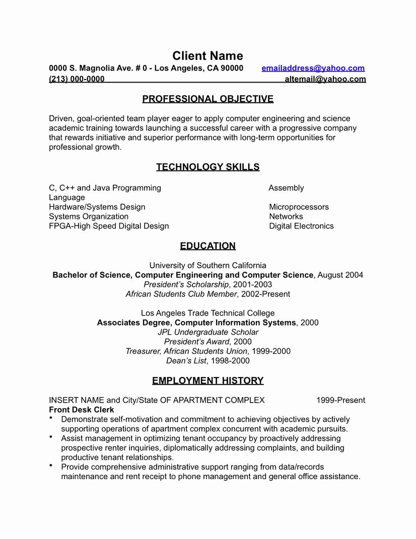 Resume Template Google Docs English