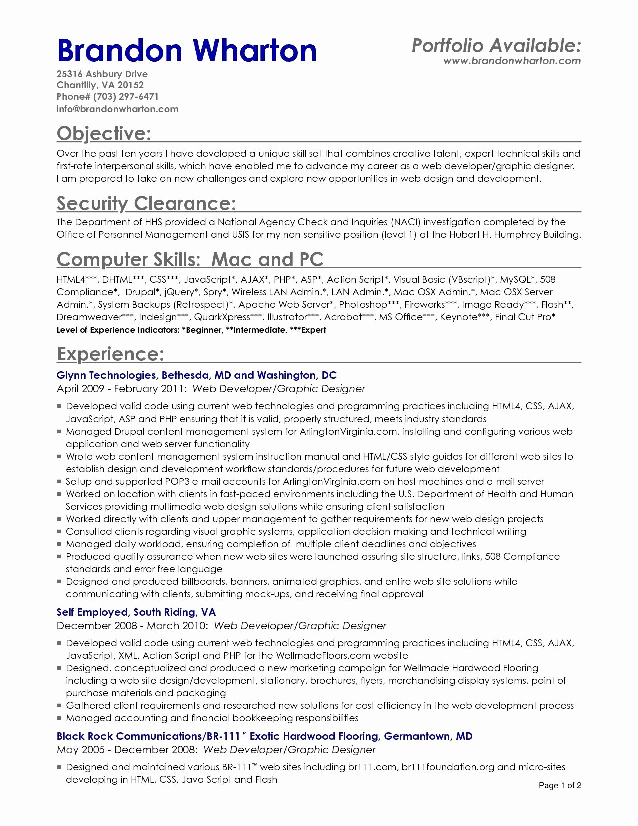 resume template mac word 2011