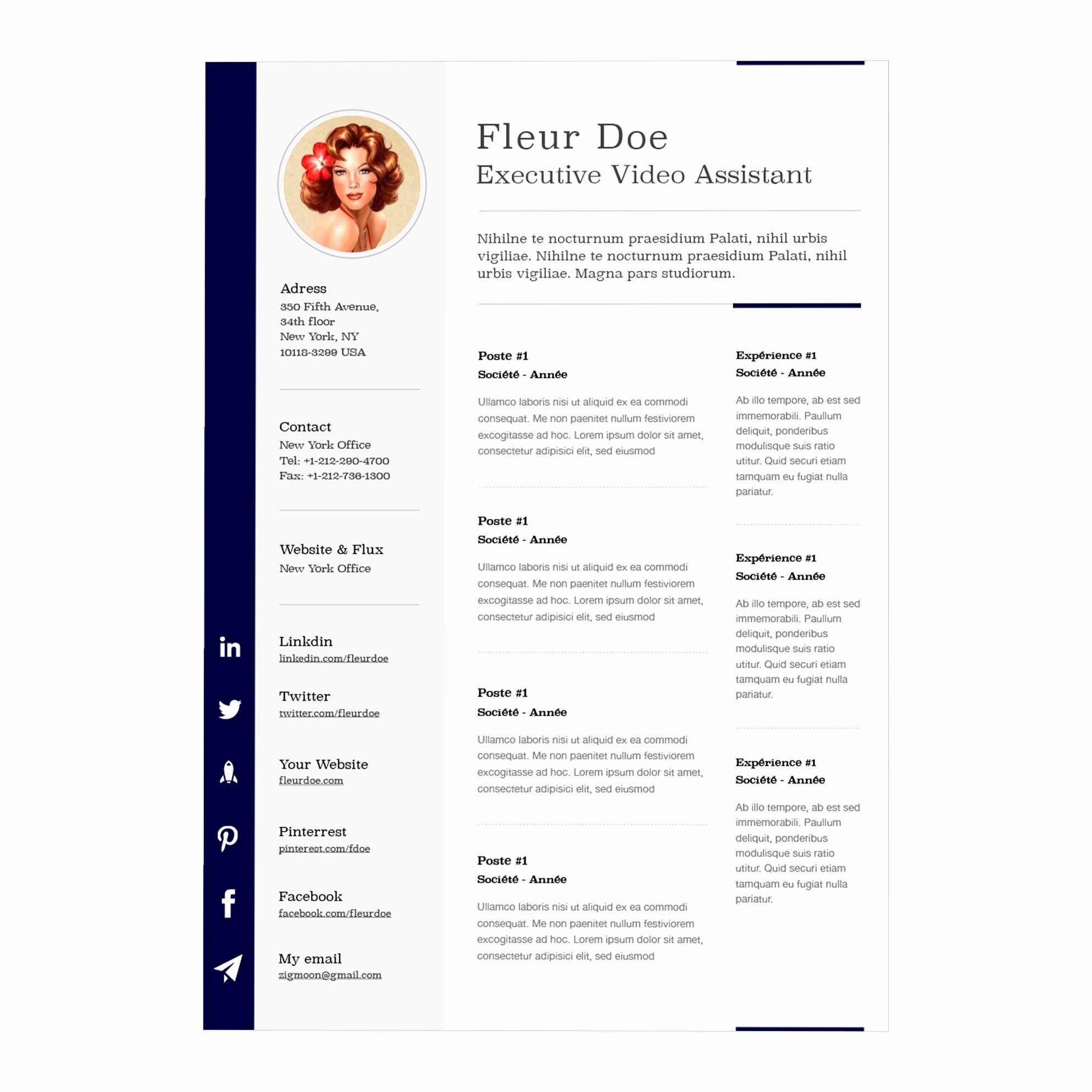 Resume Template Mac