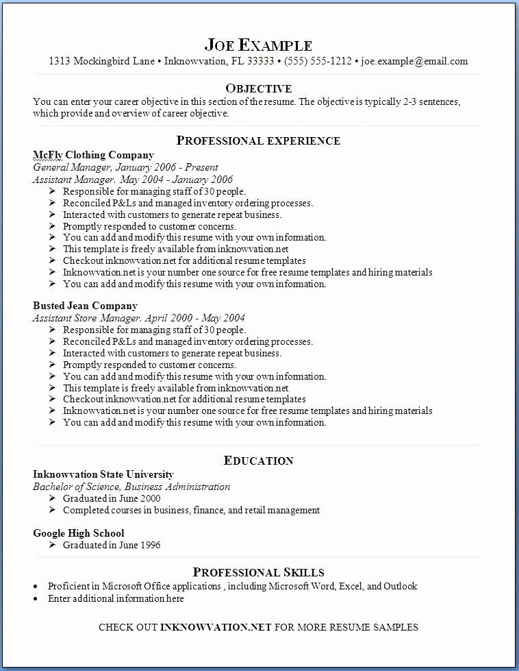 Resume Template Online Free – Netdomafo