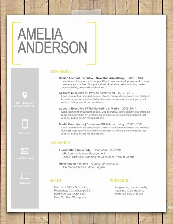 "Resume Template the ""sara"""