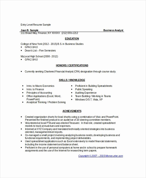 Resume Template Word 10 Free Word Documents Download