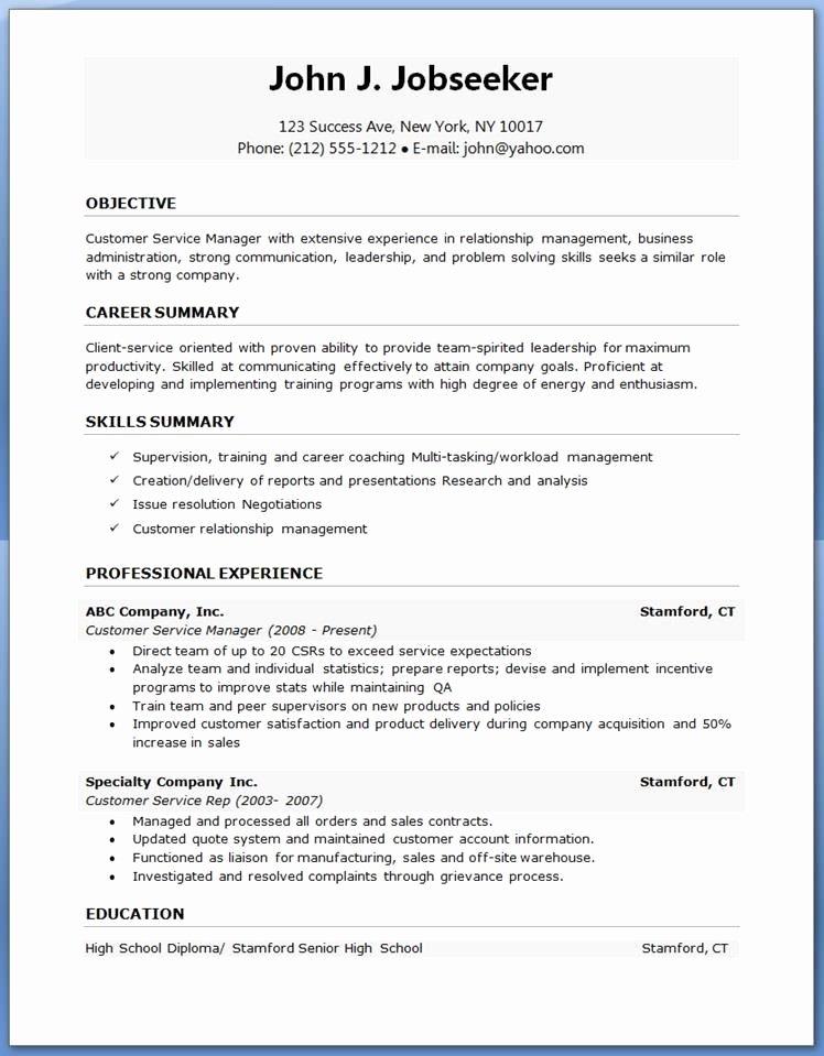 Resume Template Word