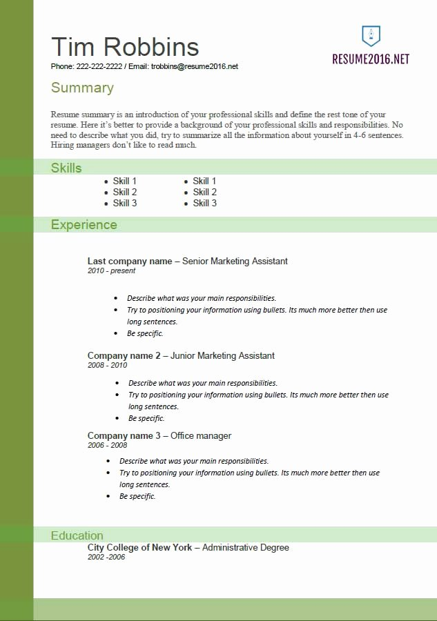 Resume Templates 2016 • which One Should You Choose
