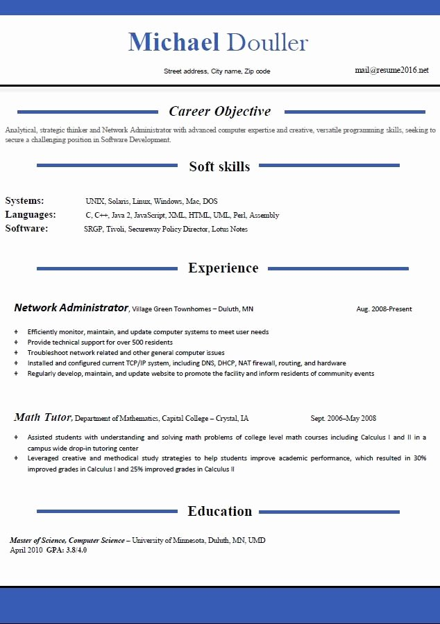 Resume Templates 2016 which E Should You Choose