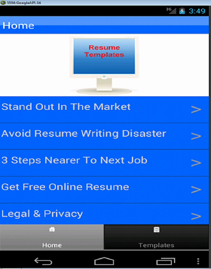 Resume Templates android Apps On Google Play