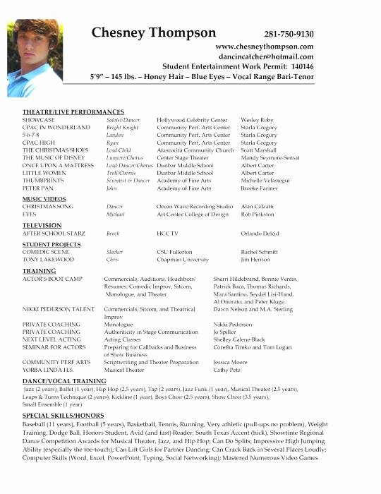 Resume Templates for Kids