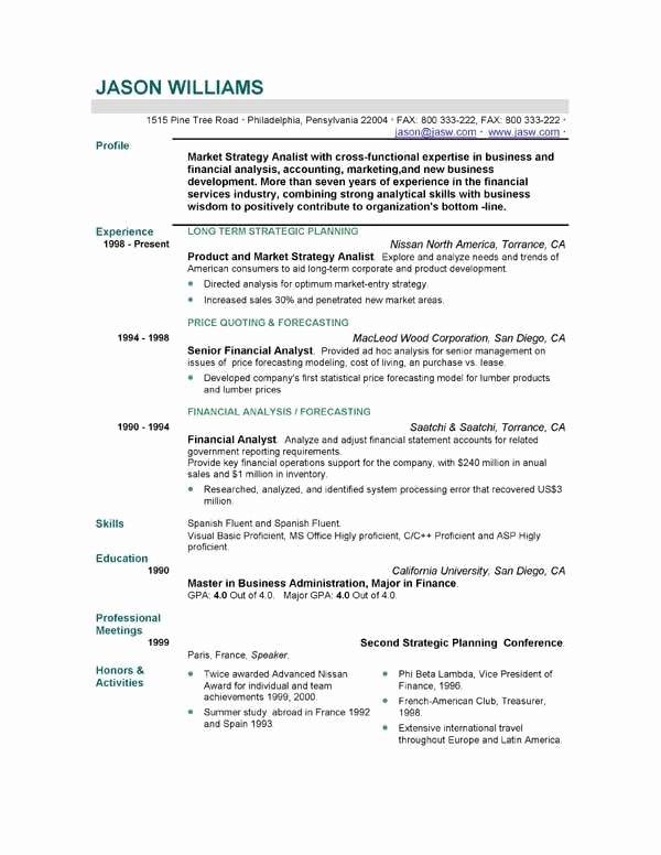 Resume Templates for Teens