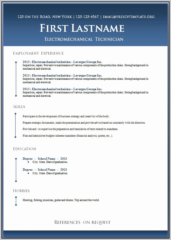 Resume Templates for Word Mac Template Resume