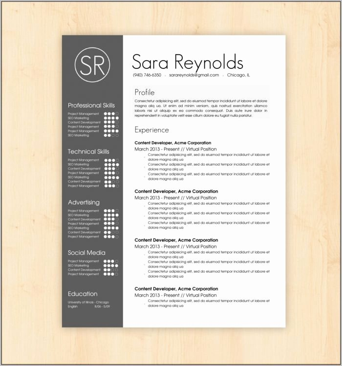 Resume Templates Free Download Creative Resume Resume