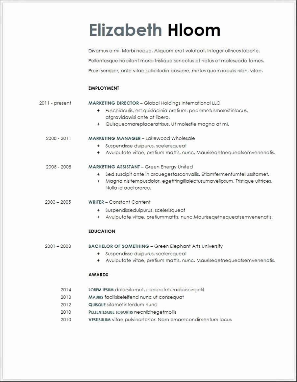 Resume Templates Googles Template Resumes Singular Student