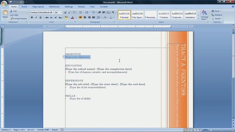 Resume Templates Microsoft Word 2007 How to Find