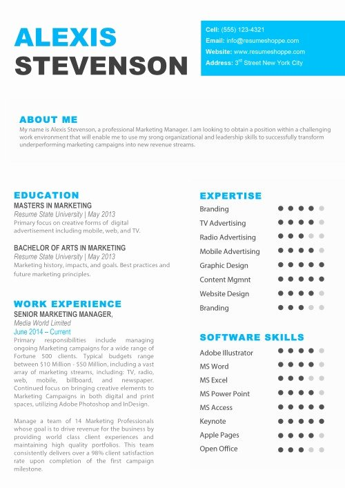 Resume Templates Pages