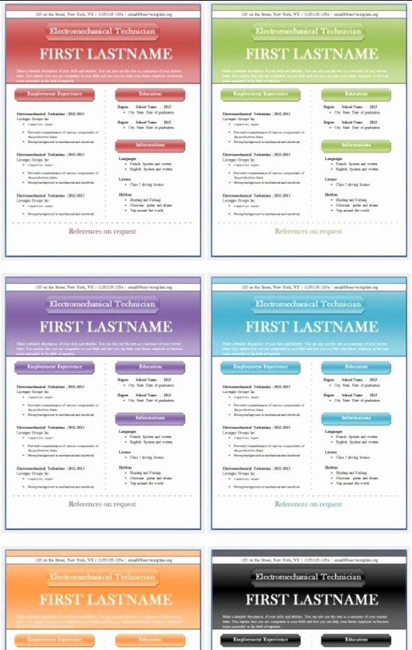 Resume Templates Publisher Best Resume Gallery