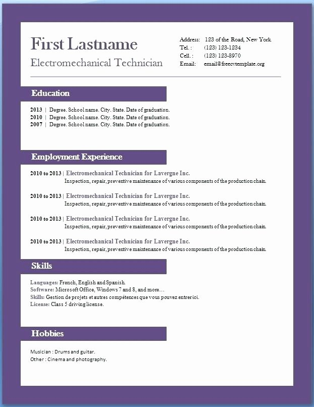 Resume Templates Word 2010 Talktomartyb