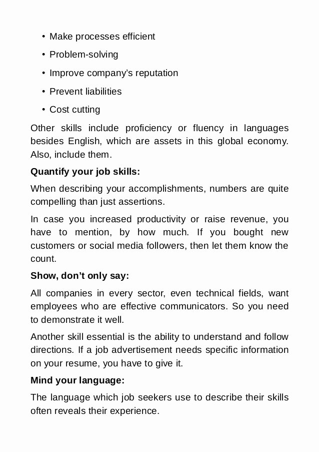 Resume Tips How to Highlight Job Skills and Standout