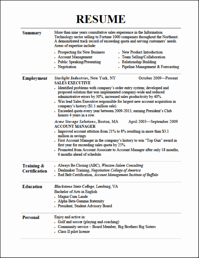 Resume Tips Resume Cv Example Template