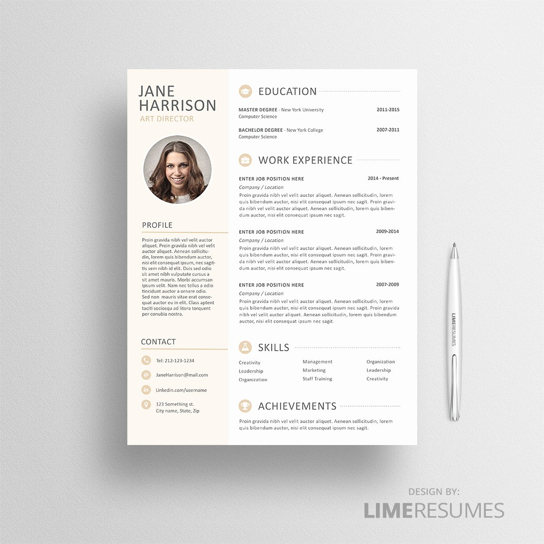 Resume with Cv Template with Limeresumes