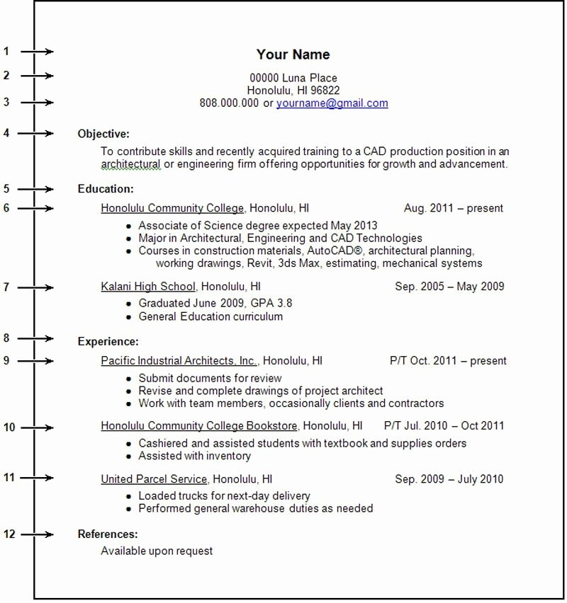 Resume with No Experience No Experience Resume Sample
