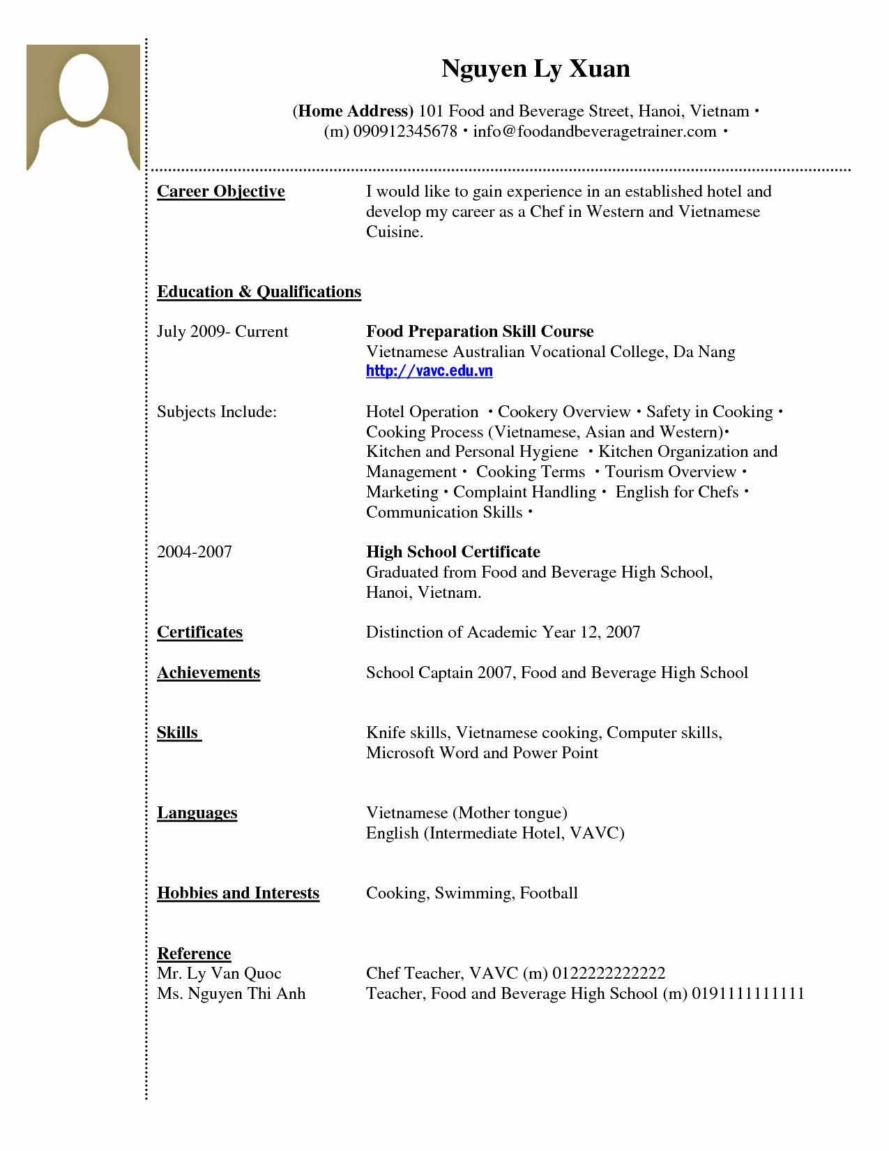 Resume with No Work Experience Template Cv Year Sample