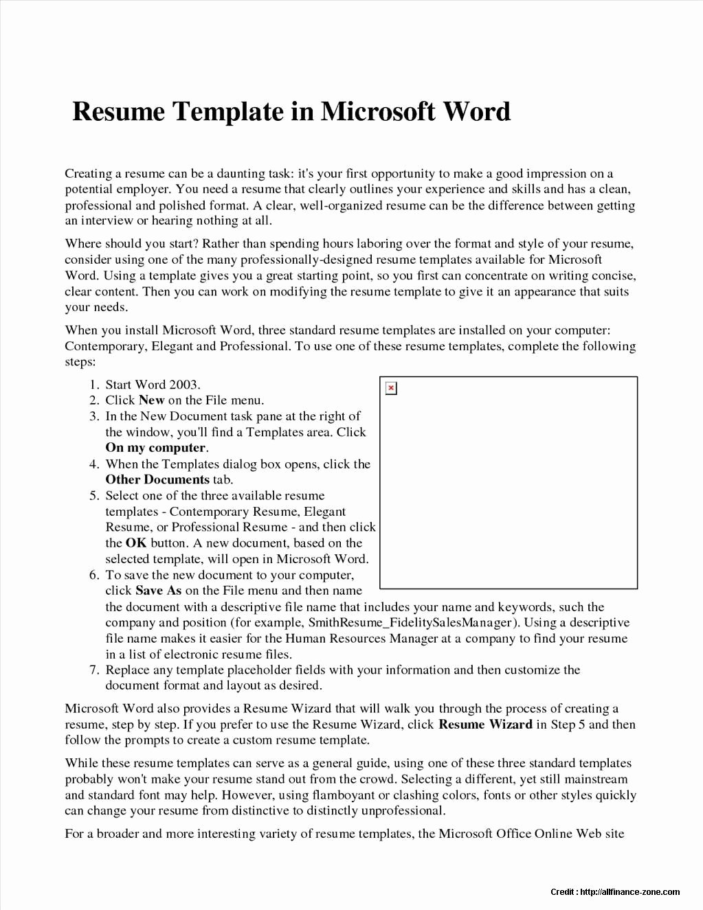 Resume Wizard In Word 2007 Free Download Resume Resume