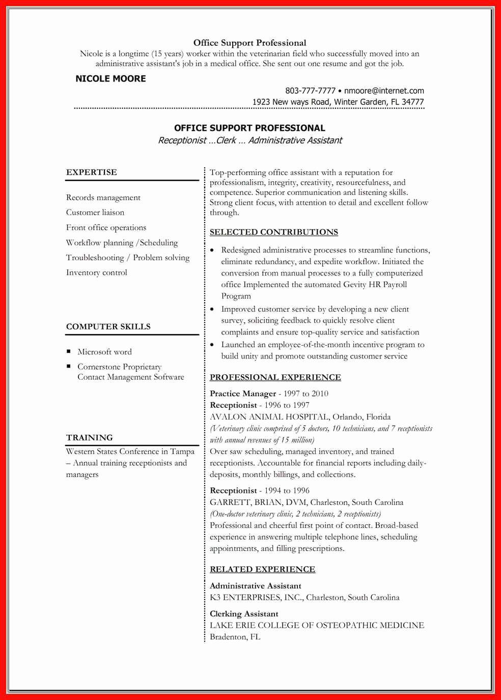 Resume Word Doc Template