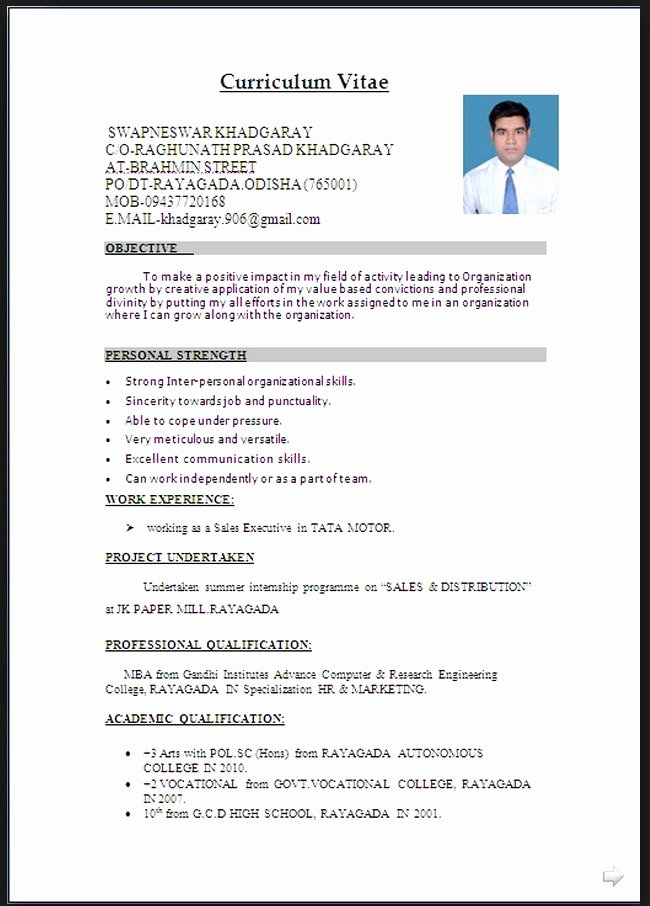 Resume Word Document – Resume Template Ideas