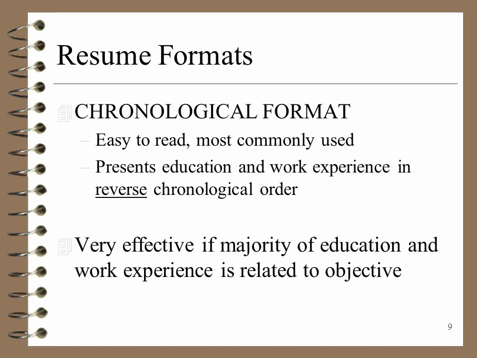 Resume Writing Presenting Yourself On Paper Ppt Video
